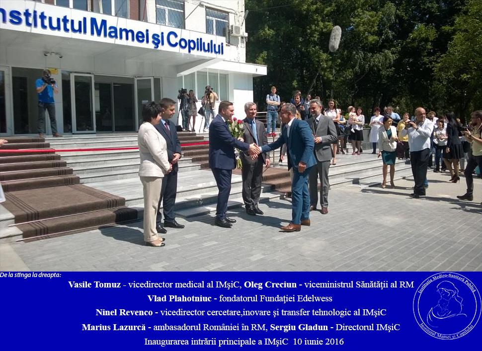 Inaugurarea intrării principale IMSP IMşiC