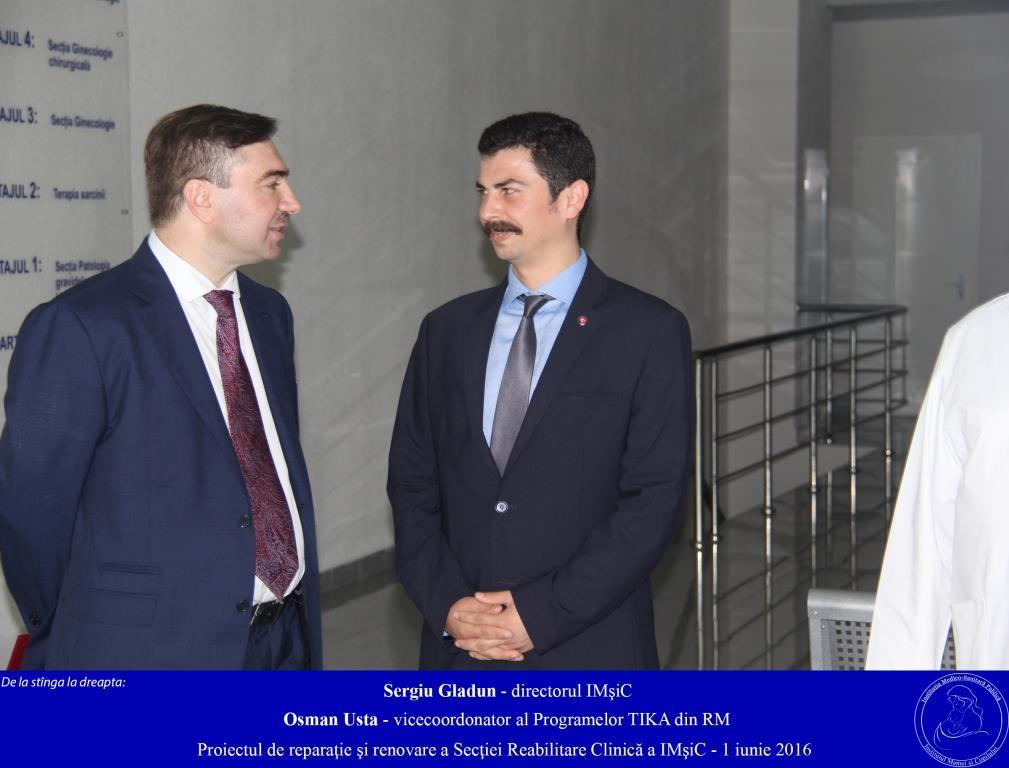 Proiectul de reparaţie şi renovare a Secţiei Reabilitare Clinică a IMSP IMşiC